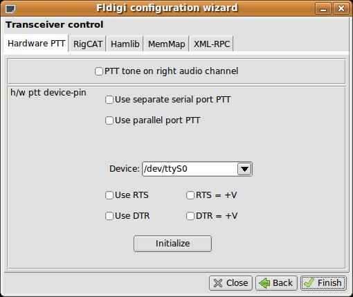 Fldigi Konfigurations-Assistent 4